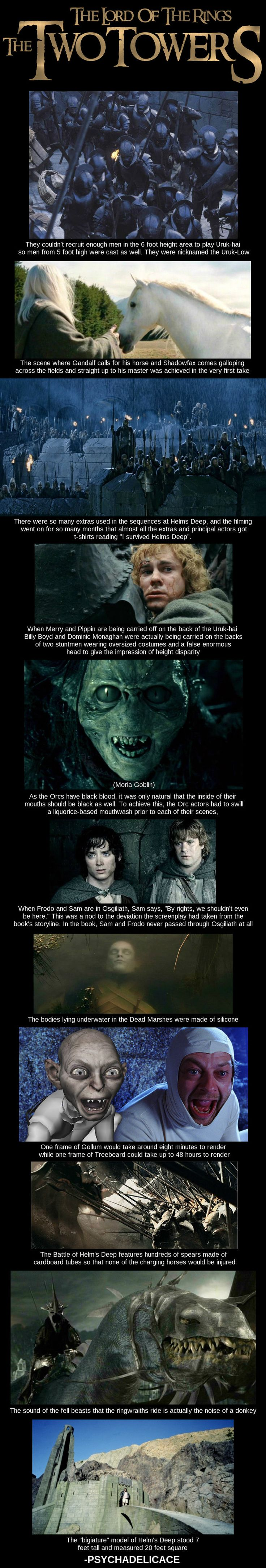 The Two Towers behind the scenes facts.