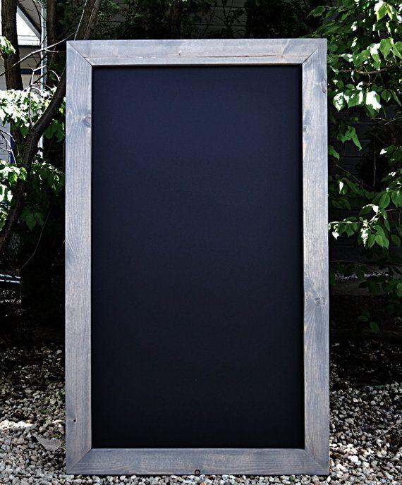 "36""x60"" Rustic Framed Chalkboard, Rustic Chalkboard,Chalkboard Menu,Rustic Blackboard,Big Chalkboard, Kid's Playroom, Extra large chalkboard"