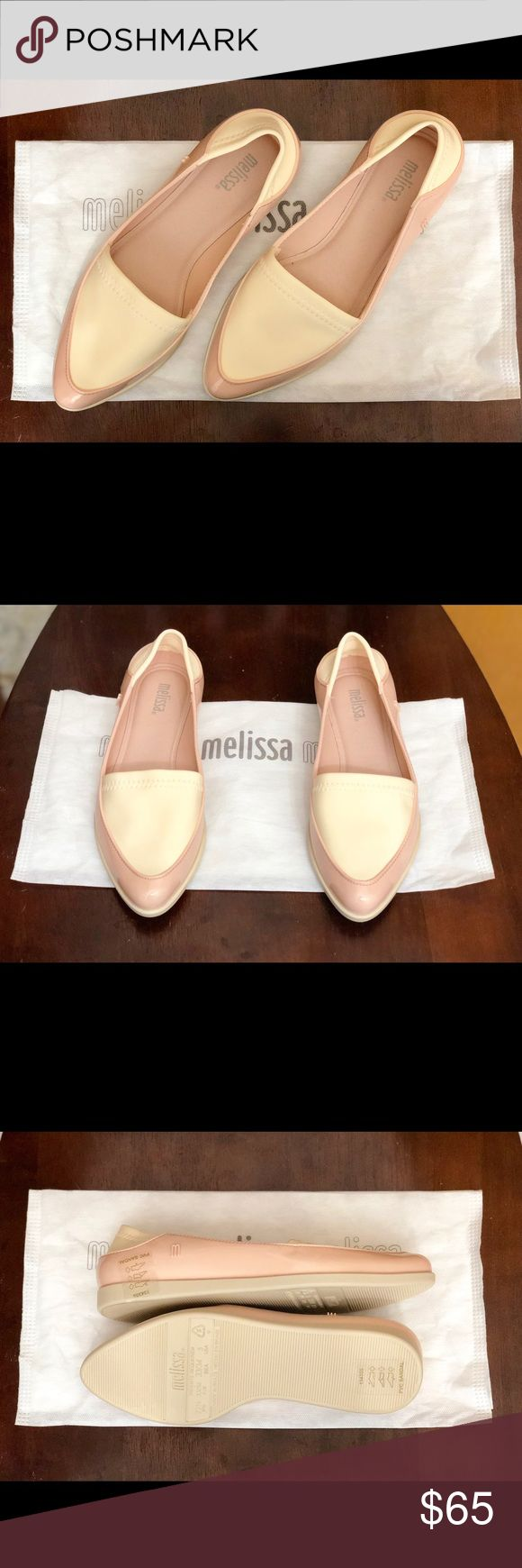 Melissa Flats - Fits 1/2 size bigger - Durable, Hypoallergenic - Bubble gun scent - Made in Brazil - Comes with a dust bag and show box Melissa Shoes Flats & Loafers