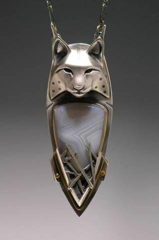 Silver Lynx Totem Necklace