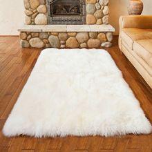 US $29.99 yazi Luxury Rectangle Sheepskin Hairy Carpet Faux Mat Seat Pad Fur Plain Fluffy Soft Area Rug Tapetes. Aliexpress product