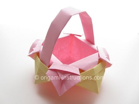 Origami basket instructions origami scatole for Romantic origami ideas