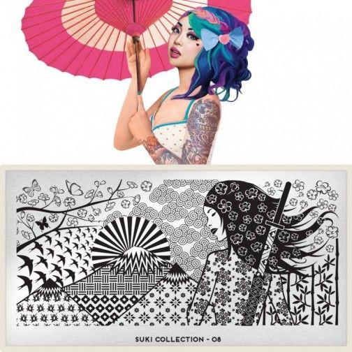 Placa para Decoração de Unhas MOYOU London-SUKI 8