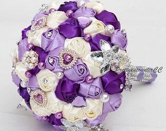 Exquisite Lavender Pink Wedding Bouquet Roses by PrettyencounterCC