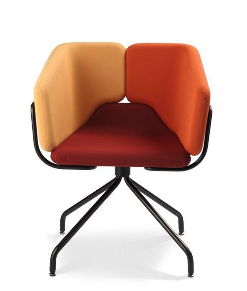 Trestle Based Easy #chair With Armrests MIXX SPIDER Mixx Collection By AREA  DECLIC |