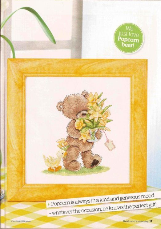 Popcorn Special Delivery  The World of Cross Stitching Issue 164  Hardcopy