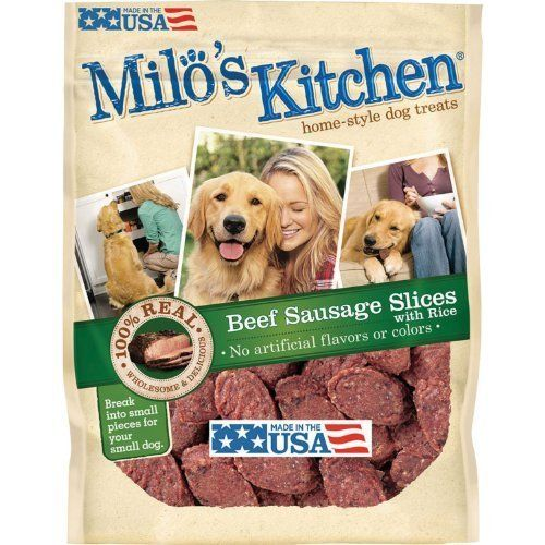 Milo S Kitchen Beef Sausage Slices With Rice Dog Treats 18oz By