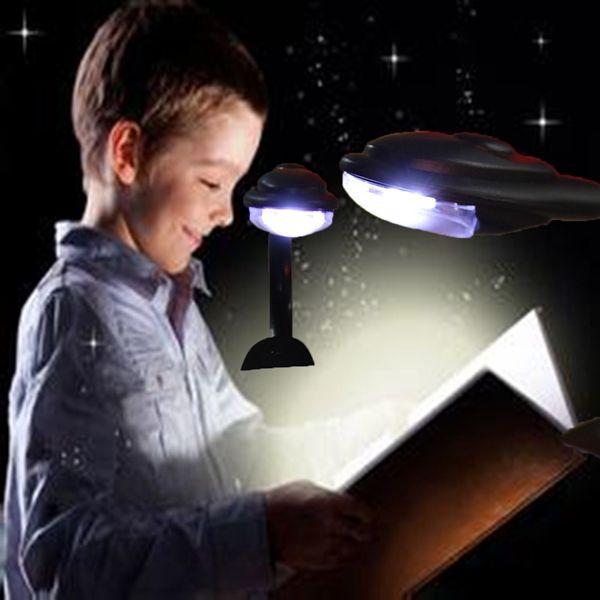 Mini LED Flexible Clip Reading Light Bedside Desk Book Study Lamp