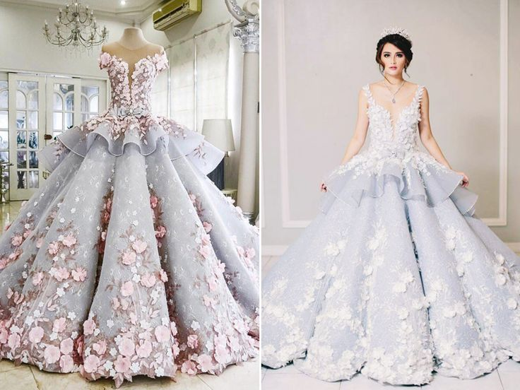 25 Incredibly Breathtaking Dresses with 3D Flowers and Appliques!
