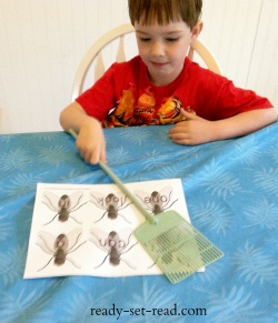 Fly swat sight word game, learn to read