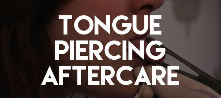 So you got your tongue pierced but not quite sure how to take care of it? Check out our easy to read do's & dont's for tongue piercing aftercare. #TonguePiercingAftercare