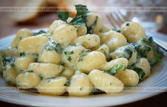 Kluski szpinakowe z serem