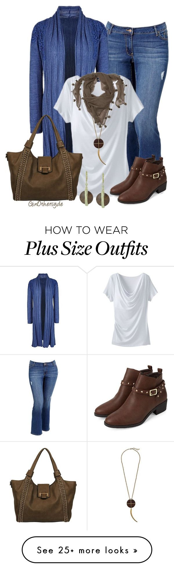 """Curvy Woman - Plus Size"" by ginothersyde on Polyvore featuring Old Navy, TravelSmith, Lucky Brand, Black Rivet, DAY Birger et Mikkelsen and 337"