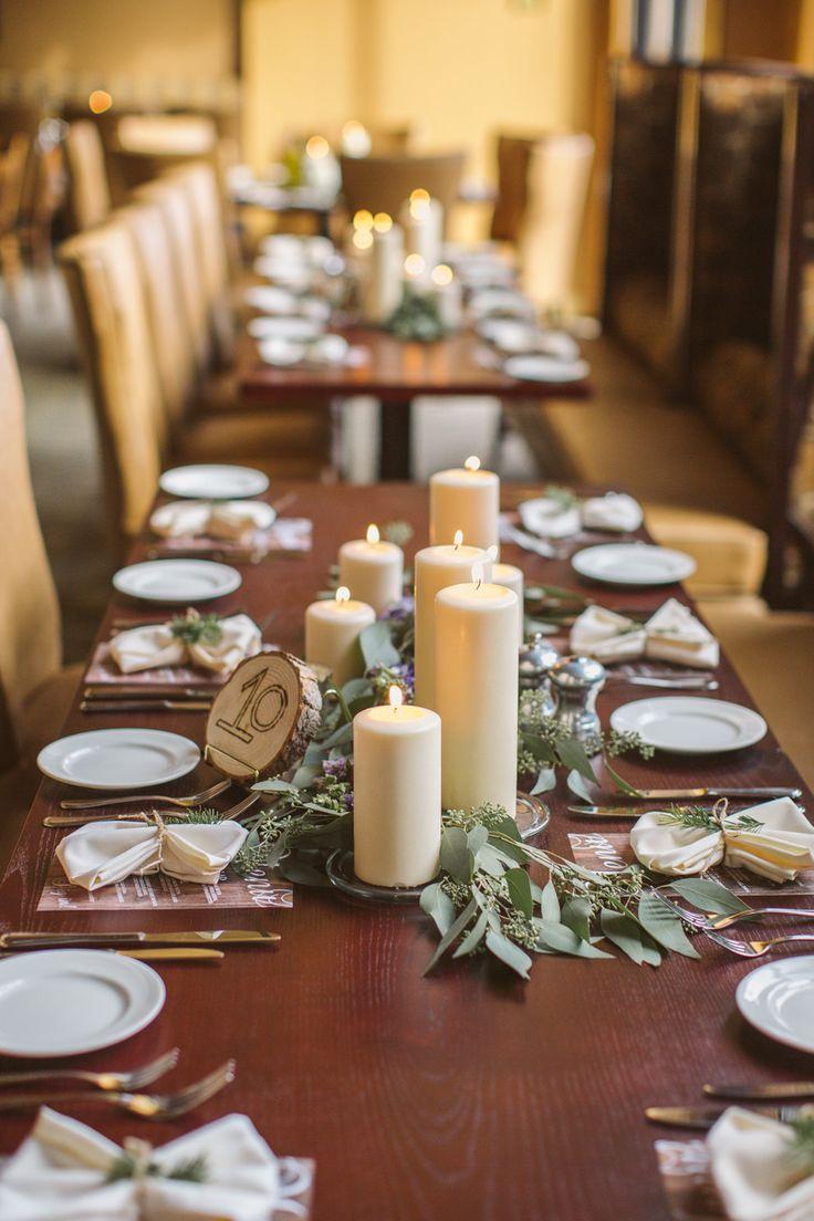 Montanta Mountain Destination Wedding. Rectangle Table CenterpiecesRectangle  ...