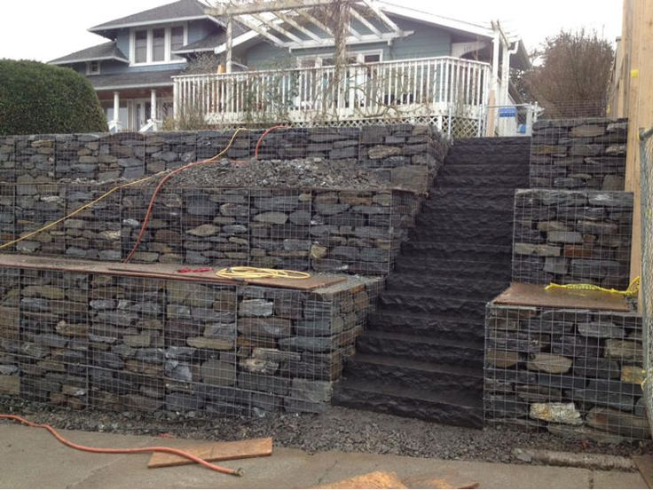 The 30 best images about Gabion Wall Ideas on Pinterest Glasses