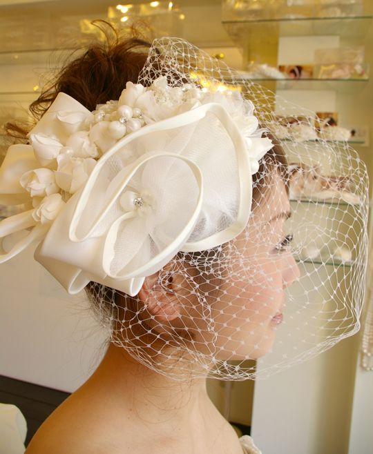 大ぶりブライダルヘッドドレス 髪飾りヘアアクセサリー B-201