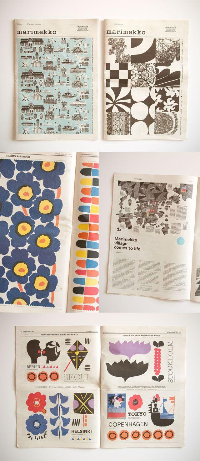 Simple format, quirky graphics: Marimekko Newspaper