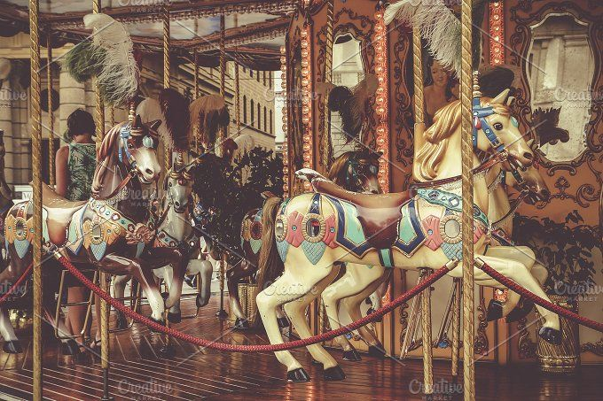 Traditional carousel by agafapaperiapunta on @creativemarket