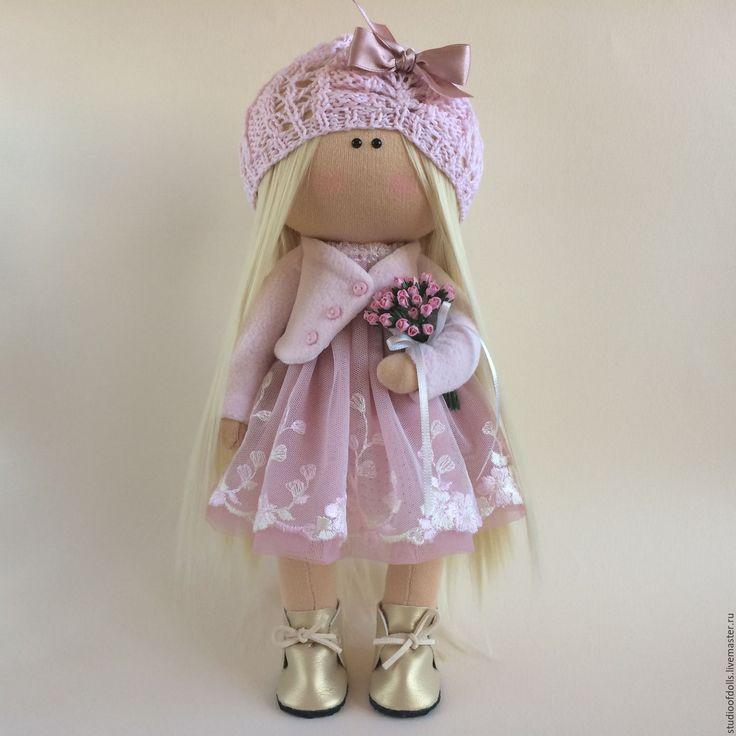 Купить Интерьерная кукла Ия. - бледно-розовый, интерьер, интерьерная кукла, коллекционная кукла