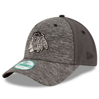 Men's Chicago Blackhawks New Era Heathered Gray/Graphite The League Shadow 9FORTY Adjustable Hat