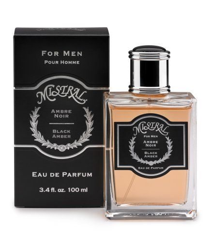 Mistral Men's Eau De Parfume Spray, Black Amber, 3.4 Fluid Ounce by Mistral. $60.00. Perfect for all occasions. Our original fusion of amber and warm woods creates an unmistakably masculine fragrance. Designed to be worn alone or combined. The Mistral man is a true gentleman who celebrates style and sophistication. Our new Men's Cologne range caters to his refined taste with two of our most distinctive and beloved scents.