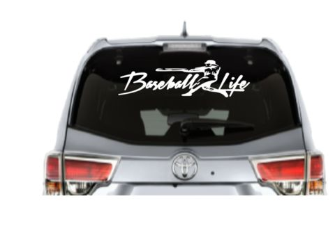 Baseball life car decal high quality outdoor vinyl 1