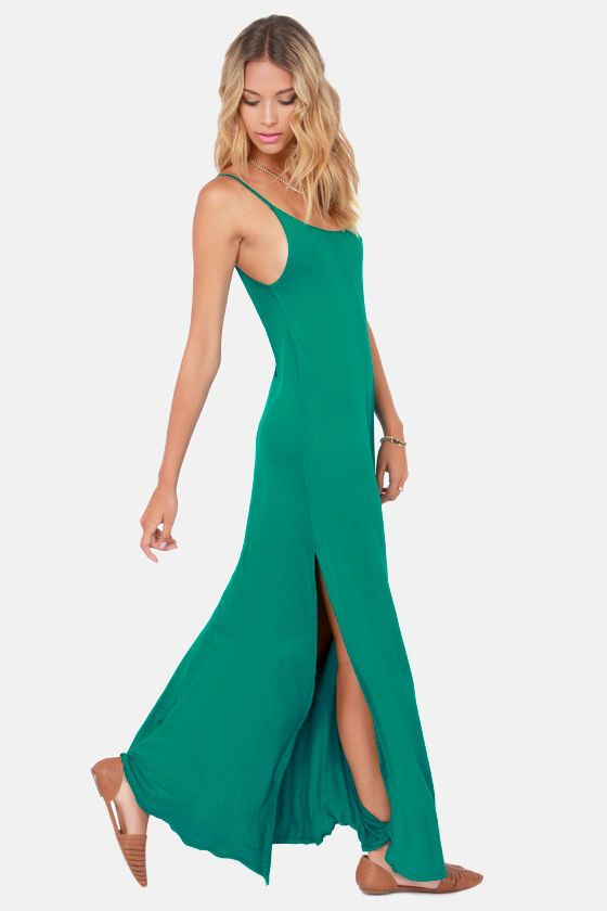 Such Great Heights Teal Maxi Dress at LuLus.com