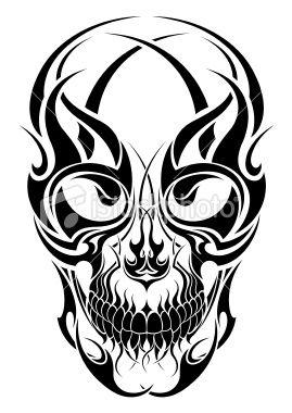 1348772117_stock_illustration_10790565_tribal_tattoo_skull_design.jpg (269×380)