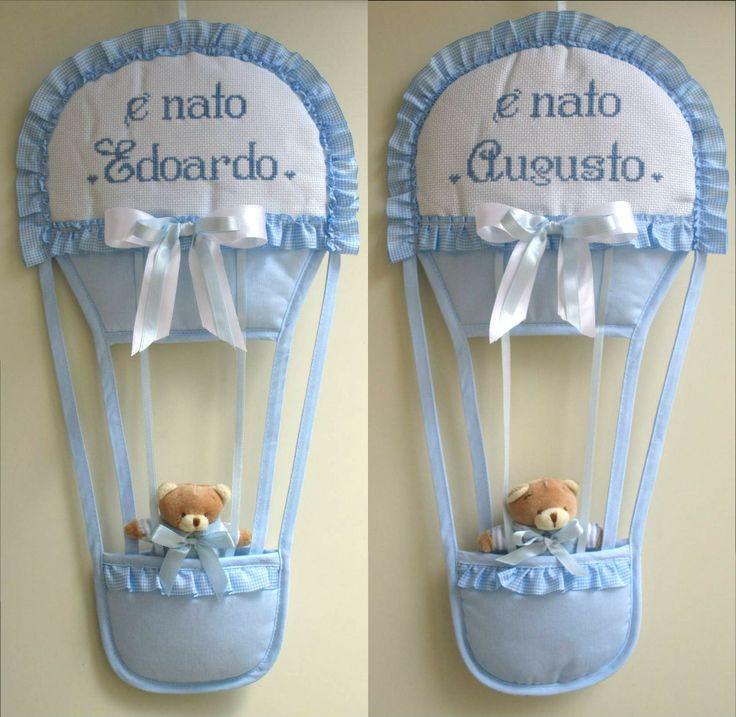 fiocchi nascita personalizzati per edoardo e augusto ; per info:http://lecreazionidimichela.it.gg/HOME.htm