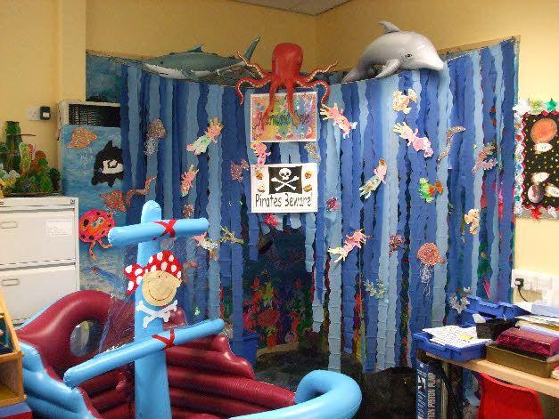 Mermaid Cove role-play area classroom display photo - Photo gallery - SparkleBox