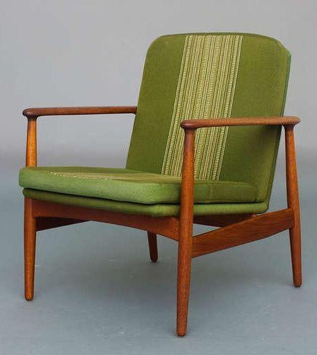 Arne Vodder; Teak Lounge Chair, 1950s.