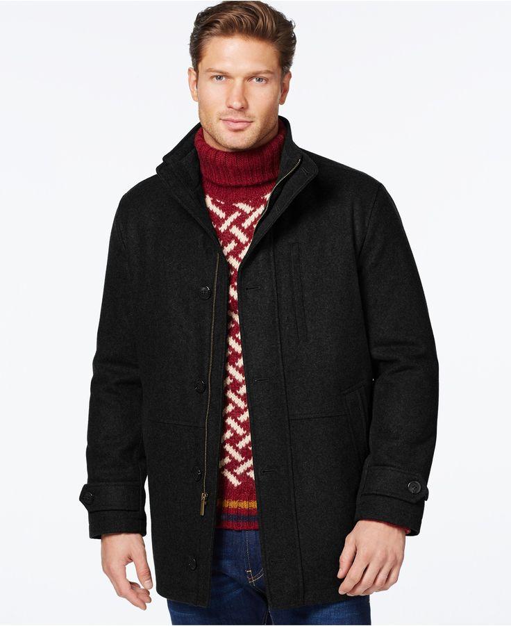 London Fog Big & Tall Wool-Blend Car Coat - Coats & Jackets - Men - Macy's