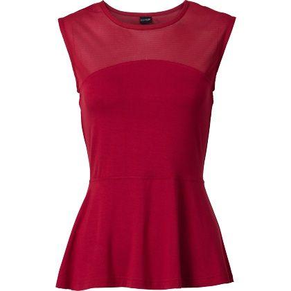 Schönes rotes #Top! Das #Schößchen wirkt #klassisch und #elegant. ♥ ab 14,99€