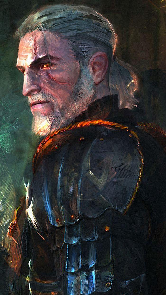 """cyberclays: """" Geralt of Rivia - Witcher fan art by Murat Gül """""""