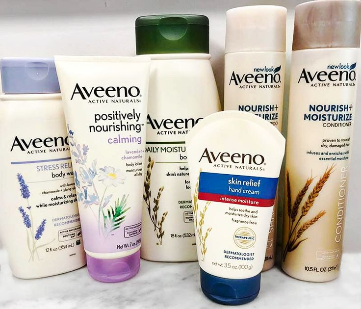 Morning & Night Shower Routines with Aveeno at iHerb, Aveeno Active Naturals Stress Relief Body Wash, Moisturizing Body Wash, Shampoo & COnditioner