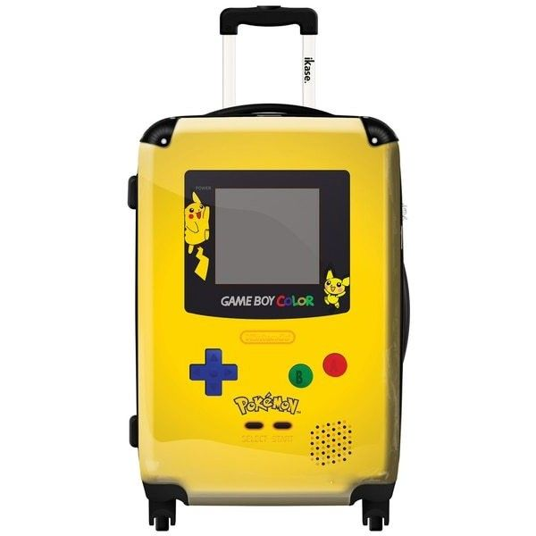iKase 'Game Boy Yellow Pokemon' 20-inch Fashion Hardside Carry-on... ❤ liked on Polyvore featuring bags and luggage