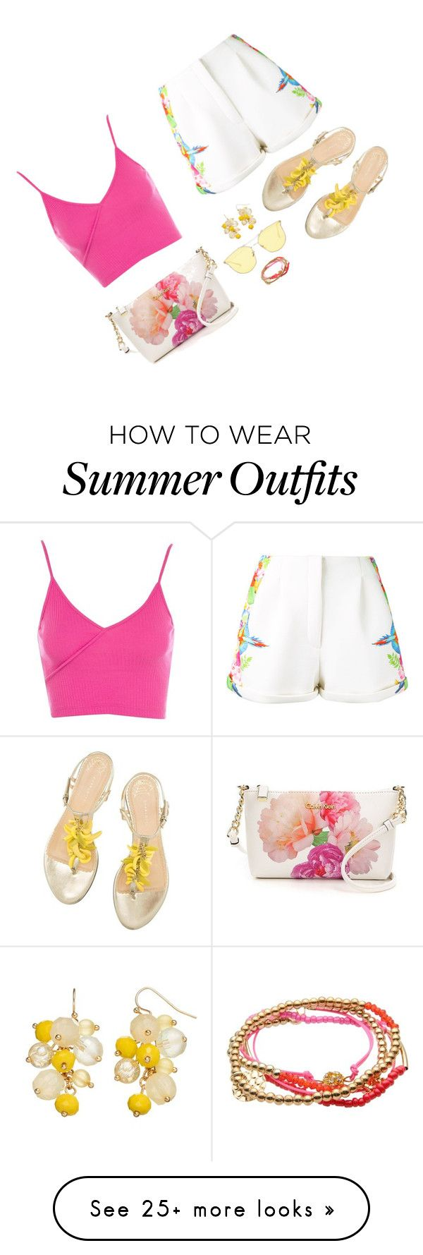 """""""Colorful Summer [03]"""" by myxvonwh on Polyvore featuring Manish Arora, Calvin Klein, Pieces and Topshop"""