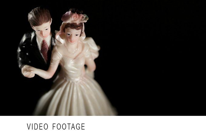 Wedding cake figurines. by Grey Coast Media on @creativemarket