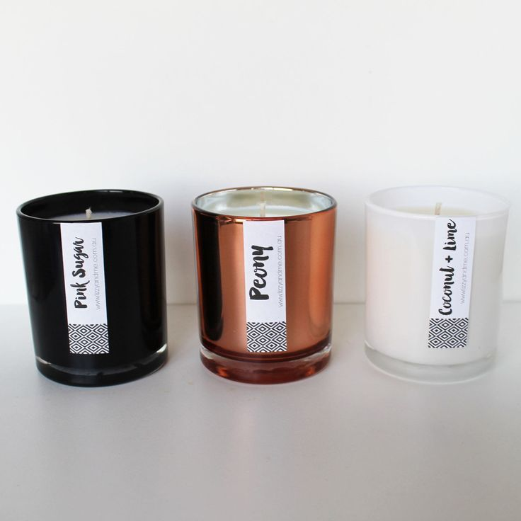 Luxary Candle Range - Copper - Black - White