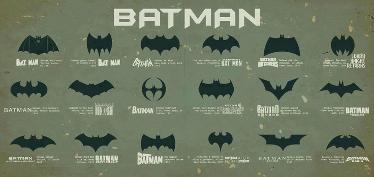 Batman logos @Betty Ruckman