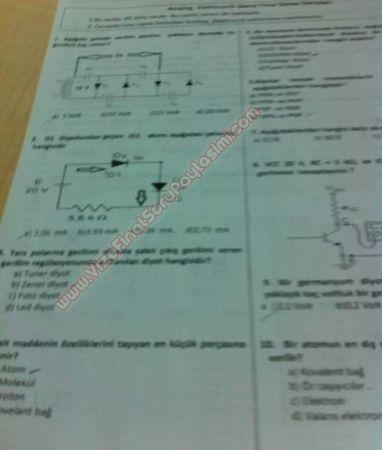 Analog Elektronik Dersi Final Soruları - Test