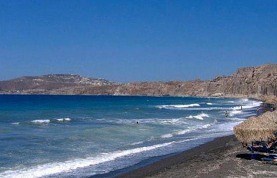 Image result for Agios Georgios  Beach Santorini, Greece
