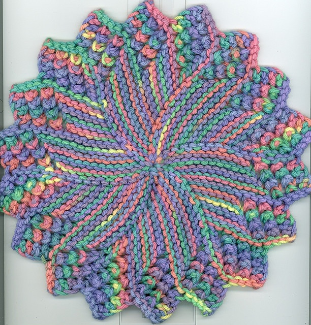 free! - Sunburst dishcloth 4 by shbknits, via Flickr