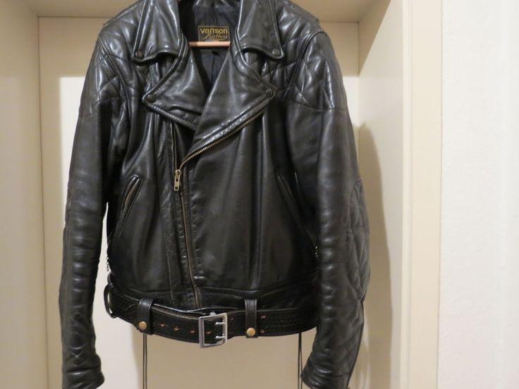 Vanson  Leder Motorcycle-Leather Jacke  Bluf Gay Uniform