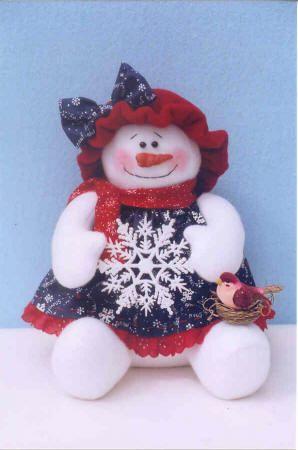 SNOW WOMAN ~ Fabric patterns!