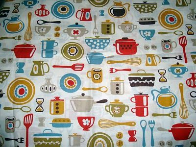 Kitchen Print Fabric
