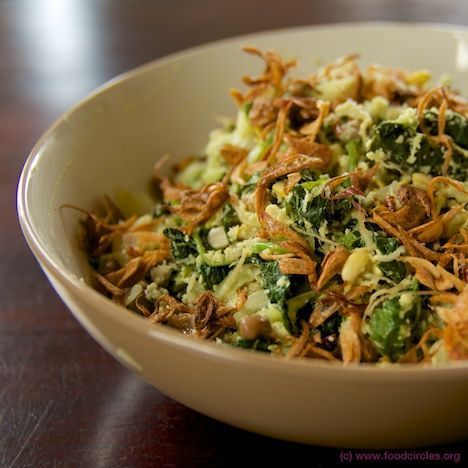 Indonesian Food. Sayur Urap Bali. Balinese Vegetable Salad with Coconut Dressing.
