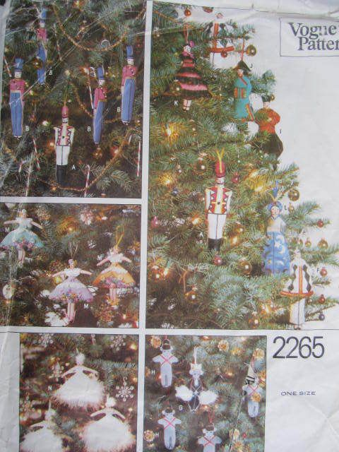 See Sally Sew-Patterns For Less - Nutcracker Christmas Decorations Toy Soldiers Sugar Plum Fairy Dancer Vogue 2265 Holiday Craft Pattern , $12.99 (http://stores.seesallysew.com/nutcracker-christmas-decorations-toy-soldiers-sugar-plum-fairy-dancer-vogue-2265-holiday-craft-pattern/)