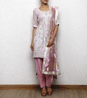 Onion Pink Georgette Salwar Kameez