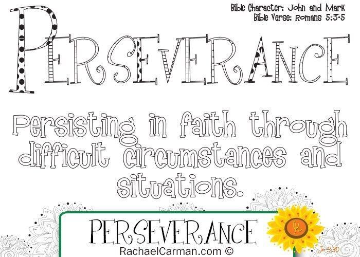 Character Quality Perseverance Character Qualities Pastors